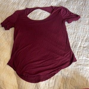 So- maroon relaxed t-shirt